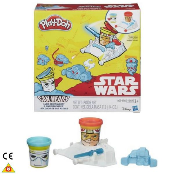 Play Doh Playdoh Star Wars Can-Heads Luke Skywalker & Snowtrooper  Age 3+ Years B2918